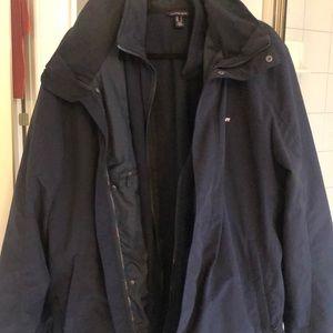 Lands end men's squall 3 in one jacket fleece